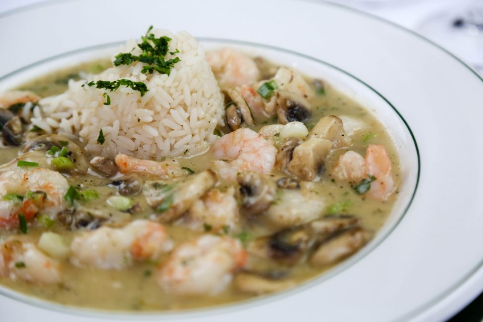 Shrimp au Vin